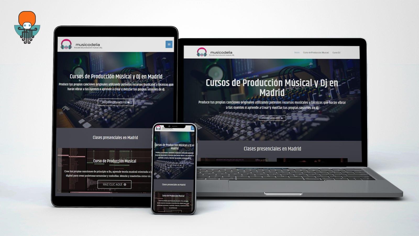 Musicodelia Web WordPress