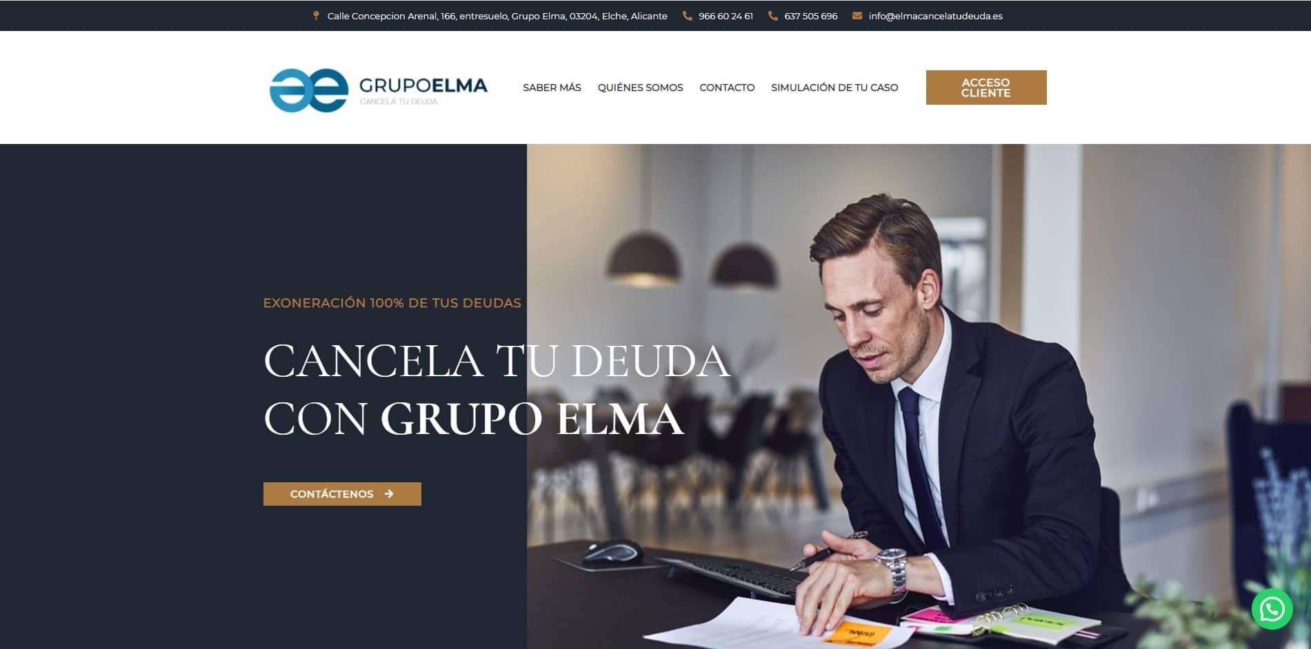 Diseño Web en WordPress Elma Cancela tu Deuda