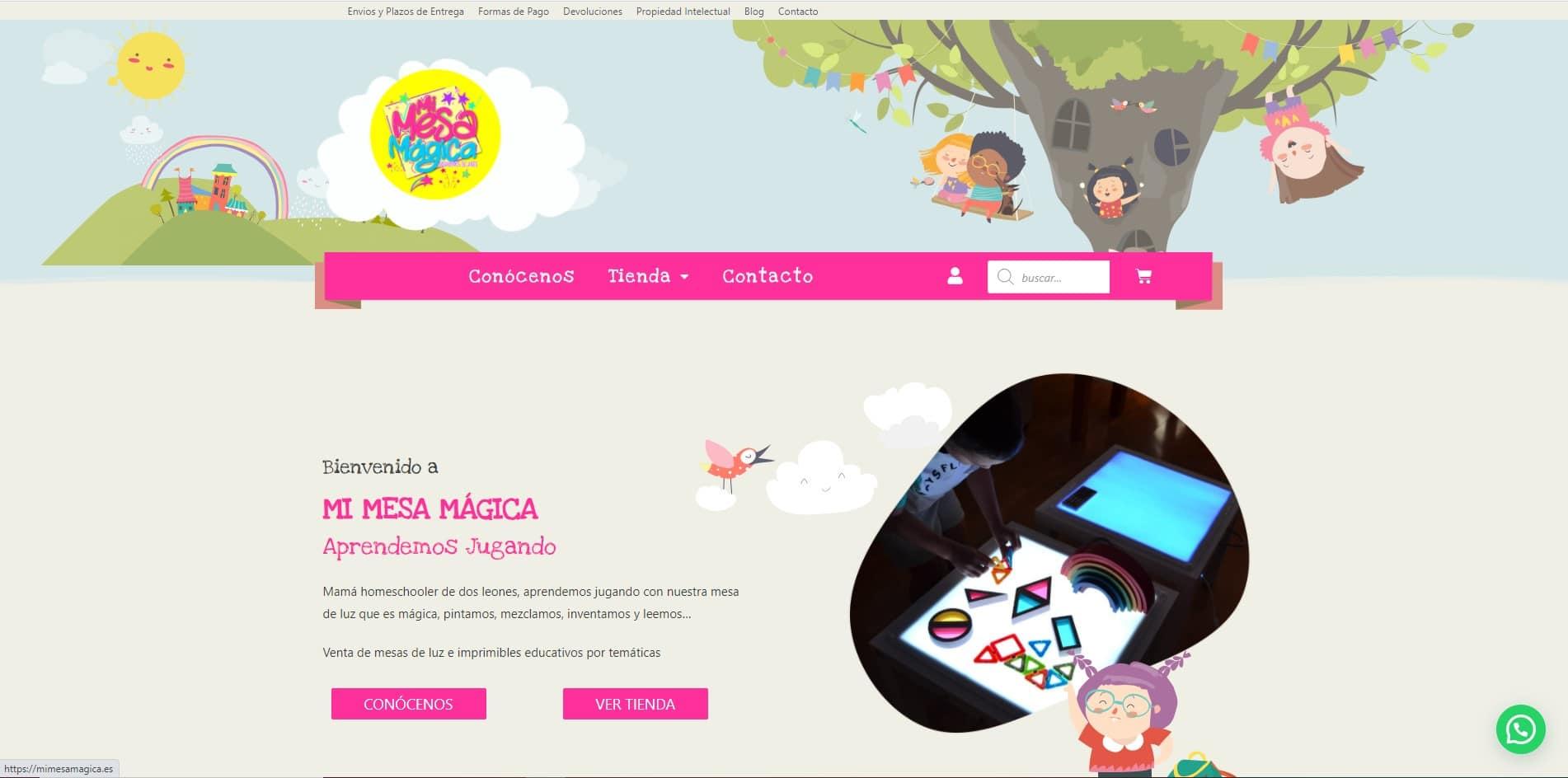 Diseño Web en WordPress Mi Mesa Magica